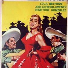 Cine: CAMINO DE GUANAJUATO. RAFAEL BALEDÓN-LOLA BELTRÁN. CARTEL ORIGINAL 1961. 70X100. Lote 83700812