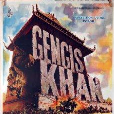 Cine: GENGIS KHAN. OMAR SHARIF-STEPHEN BOYD. CARTEL ORIGINAL 1966. 70X100. Lote 83701376