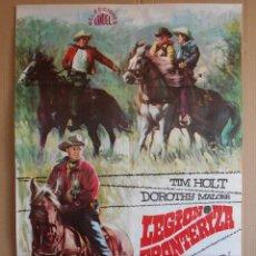 Cine: CARTEL, POSTER DE CINE, ORIGINAL - LEGION FRONTERIZA AÑO 1968... R - 5612. Lote 84177784