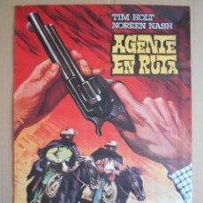 Cine: CARTEL, POSTER DE CINE, ORIGINAL - AGENTE EN RUTA - AÑO 1968... R - 5618. Lote 84191836
