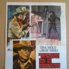 Cine: CARTEL, POSTER DE CINE, ORIGINAL - TESORO EN LA FRONTERA - AÑO 1968... R - 5620. Lote 84194268