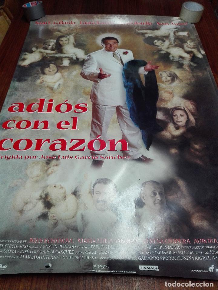 LOS LOTES DE LA CLANDESTINA - GRAN LOTE DE 4 POSTER DE CINE - ADIÓS CON EL CORAZÓN - 98 X 68 CM. (Cine - Posters y Carteles - Acción)