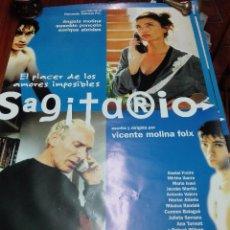 Cine: LOS LOTES DE LA CLANDESTINA - GRAN LOTE DE 5 POSTER DE CINE - SAGITARIO - 98 X 68 CM.. Lote 84276272