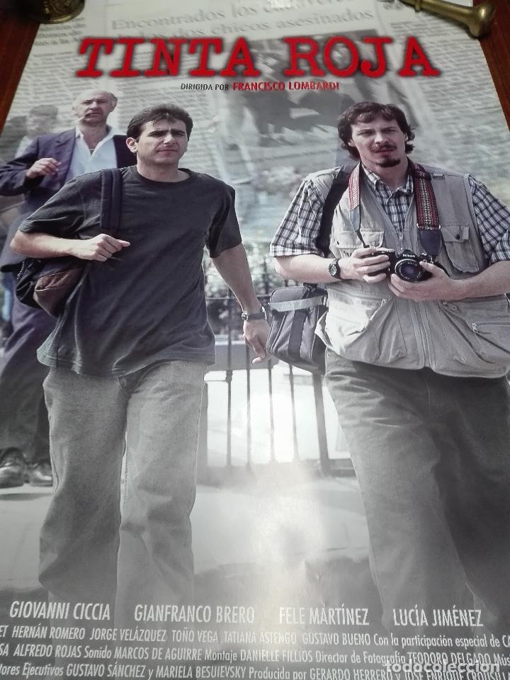 LOS LOTES DE LA CLANDESTINA - GRAN LOTE DE 5 POSTER DE CINE - TINTA ROJA - 98 X 68 CM. (Cine - Posters y Carteles - Acción)