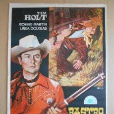 Cine: CARTEL, POSTER DE CINE, ORIGINAL - RASTRO OCULTO - AÑO 1968... R - 5621. Lote 84291376