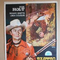Cine: CARTEL, POSTER DE CINE, ORIGINAL - RASTRO OCULTO - AÑO 1968- WESTERN -... R - 5622. Lote 84291724