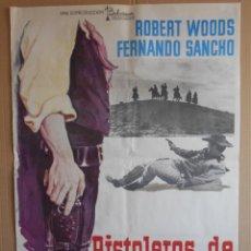 Cine: CARTEL, POSTER DE CINE, ORIGINAL - PISTOLEROS DE ARIZONA - WESTERN ESPAÑOLA - AÑO 1974... R - 5624. Lote 84292212