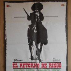 Cine: CARTEL, POSTER DE CINE, ORIGINAL - EL RETORNO DE RINGO - AÑO 1966 - WESTERN... R - 5626. Lote 84292796