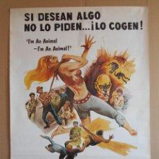 Cine: CARTEL, POSTER DE CINE - ORIGINAL - LA PANDILLA MALDITA - AÑO 1979... R - 5628. Lote 84293248