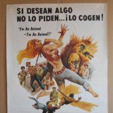Cine: CARTEL, POSTER DE CINE, ORIGINAL - LA PANDILLA MALDITA - AÑO 1979... R - 5629. Lote 84293352