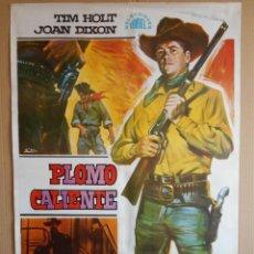 Cine: CARTEL, POSTER DE CINE, ORIGINAL - PLOMO CALIENTE - AÑO 1968 - WESTERN -... R - 5631. Lote 84294400