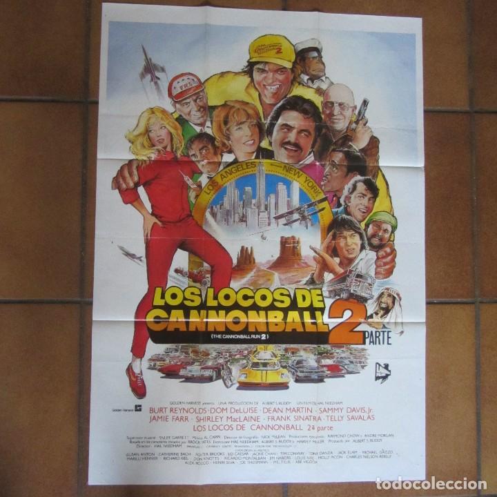 CARTEL ORIGINAL CINE LOS LOCOS DE CANNONBALL 2. 100 X 70 CM (Cine - Posters y Carteles - Comedia)