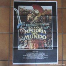 Cine: CARTEL ORIGINAL CINE LA LOCA HISTORIA DEL MUNDO. MEL BROOKS. 100X70 CM. Lote 84306244