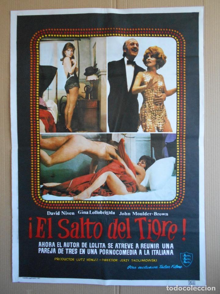 CARTEL, POSTER DE CINE, ORIGINAL - EL SALTO DEL TIGRE - AÑO 1977... R - 5643 segunda mano