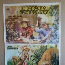 Cine: CARTEL, POSTER DE CINE, ORIGINAL - EMBOSCADA EN LAS COLINAS / EL VOLCAN PERDIDO, 1964.. R - 5645. Lote 84316664