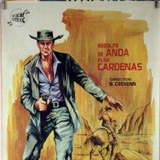 Cine: EL TEJANO. RODOLFO DE ANDA. CARTEL ORIGINAL 1965. 70X100. Lote 84411788