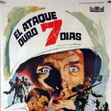 Cine: EL ATAQUE DURÓ 7 DÍAS. JACK WARDEN. CARTEL ORIGINAL 1966. 70X100. Lote 84528328