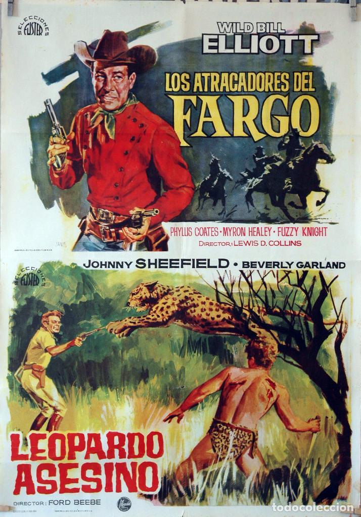 LOS ATRACADORES DEL FARGO-LEOPARDO ASESINO. CARTEL ORIGINAL 1964. 70X100 (Cine - Posters y Carteles - Westerns)
