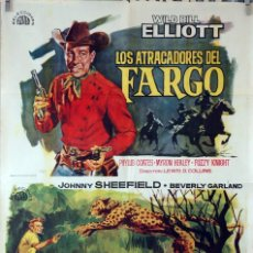 Cine: LOS ATRACADORES DEL FARGO-LEOPARDO ASESINO. CARTEL ORIGINAL 1964. 70X100. Lote 84528744