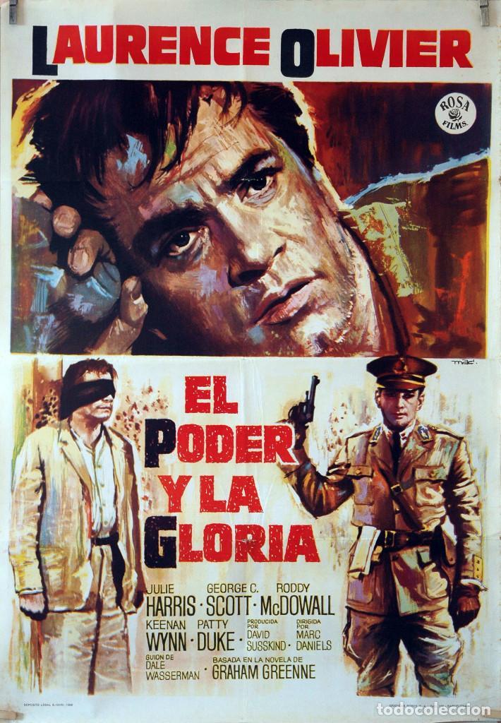 EL PODER Y LA GLORIA. LAWRENCE OLIVIER. CARTEL ORIGINAL 1966. 70X100 (Cine- Posters y Carteles - Drama)