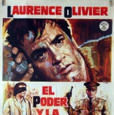 Cine: EL PODER Y LA GLORIA. LAWRENCE OLIVIER. CARTEL ORIGINAL 1966. 70X100. Lote 84529576