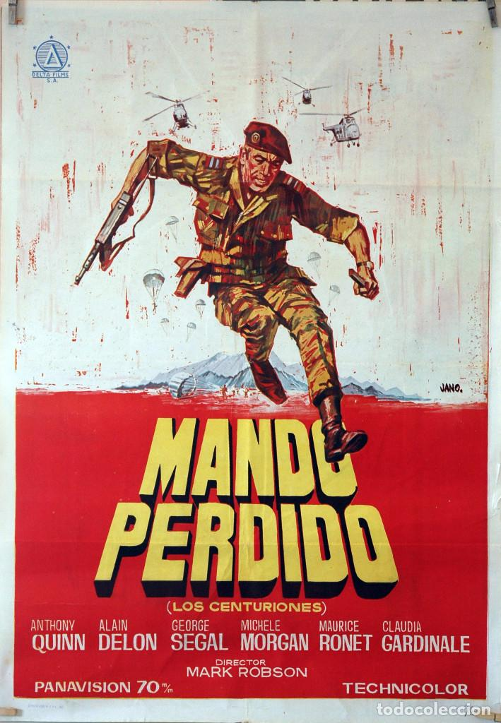 MANDO PERDIDO. ANTHONY QUINN-ALAIN DELON-CLAUDIA CARDINALE. CARTEL ORIGINAL 1967. 70X100 (Cine - Posters y Carteles - Bélicas)