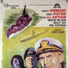Cine: ESTADO DE ALARMA. RICHARD WIDMARK-SIDNEY POITIER. CARTEL ORIGINAL 1966. 70X100. Lote 84531296