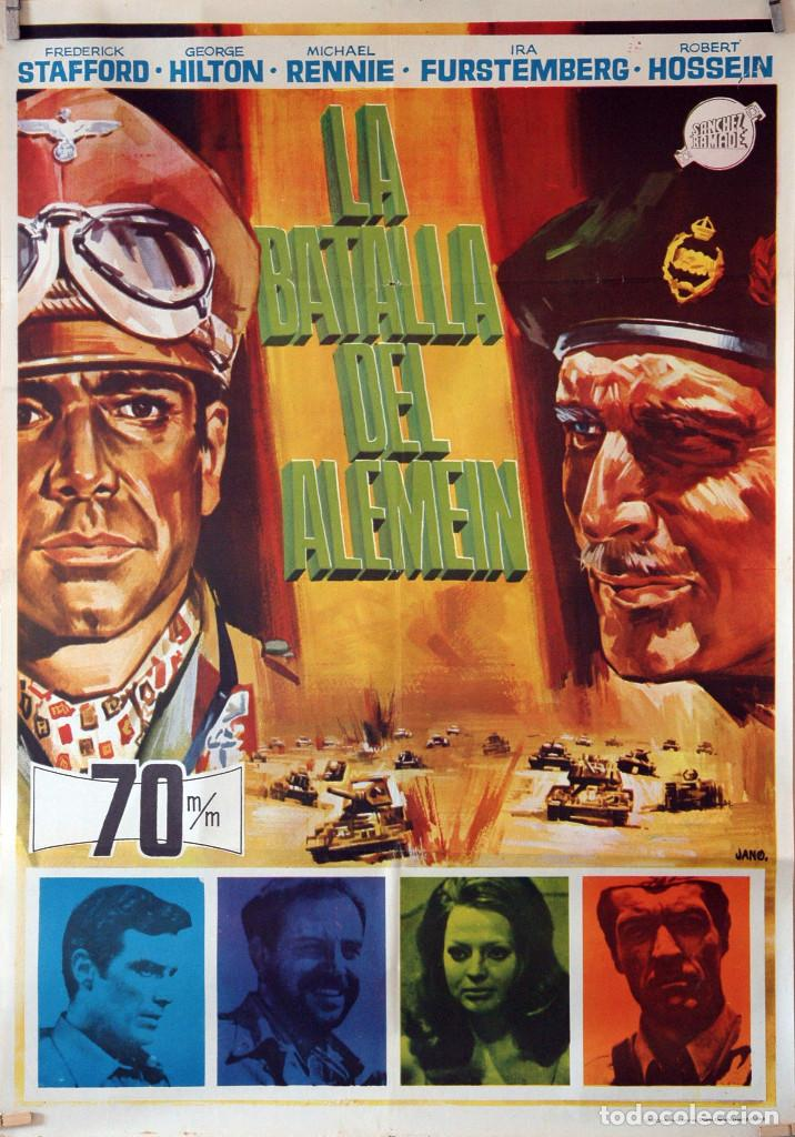 LA BATALLA DEL ALEMEIN. CARTEL ORIGINAL 1969. 70X100 (Cine - Posters y Carteles - Bélicas)