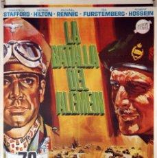 Cine: LA BATALLA DEL ALEMEIN. CARTEL ORIGINAL 1969. 70X100. Lote 84531672