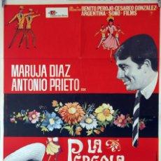 Cine: LA PÉRGOLA DE LAS FLORES. MARUJITA DÍAZ-ANTONIO PRIETO. CARTEL ORIGINAL 1965. 70X100. Lote 84531956