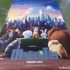 Cine: MASCOTAS V2 - APROX 120X210 LONA/BANNER ORIGINAL CINE (X15). Lote 84633916