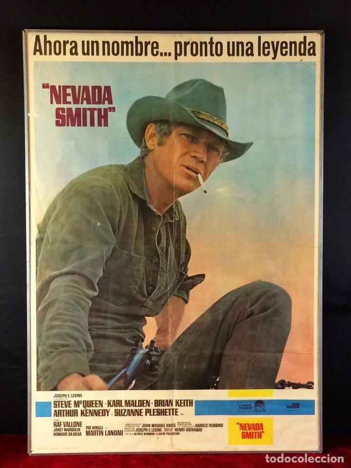NEVADA SMITH. CARTEL. BARCELONA. LITOCLUB BARCELONA. CIRCA 1966 (Cine - Posters y Carteles - Acción)