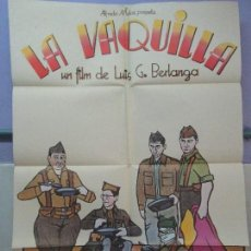 Cine: CARTEL DE CINE. LA VAQUILLA. INCINE JET FILMS 1985. 69 X 100 CM. VER FOTOGRAFIAS ADJUNTAS. Lote 84739324