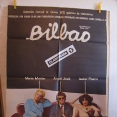 Cine: CARTEL CINE ORIG BILBAO (1977) 70X100 / BIGAS LUNA / ISABEL PISANO. Lote 84834576