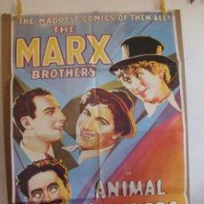 Cine: CARTEL CINE ORIG ANIMAL CRACKERS / EL CONFLICTO DE LOS HERMANOS MARX (1930) 70X100 / HERMANOS MARX. Lote 85025744