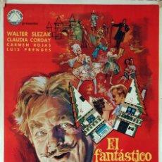 Cine: EL FANTÁSTICO MUNDO DEL DR.COPPELIUS. 1ª PELÍCULA RODADA EN ESPAÑA EN 70MM. CARTEL ORIGINAL 1966. . Lote 85101836