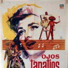 Cine: OJOS TAPATIOS. CARTEL ORIGINAL 1963. 70X100. Lote 85101976