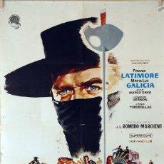 Cine: LA VENGANZA DEL ZORRO. J.L.ROMERO-MARCHENT. CARTEL ORIGINAL 1962. 70X100. Lote 85102080