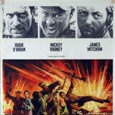 Cine: EMBOSCADA EN LA BAHÍA. MICKEY ROONEY-ROBERT MITCHUM. CARTEL ORIGINAL 70X100. Lote 85102180