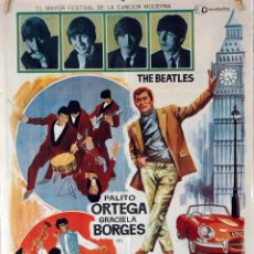 Cine: EL REY EN LONDRES. THE BEATLES-PALITO ORTEGA. CARTEL ORIGINAL 1968. 70X100. Lote 85102860