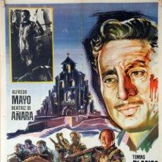 Cine: EL SANTUARIO NO SE RINDE. ALFREDO MAYO-BEATRIZ DE AÑARA. CARTEL ORIGINAL 1965. 70X100. Lote 85102984