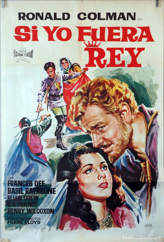 SI YO FUERA REY. RONALD COLMAN-FRANL LLOYD. CARTEL ORIGINAL 1965. 70X100 (Cine - Posters y Carteles - Aventura)
