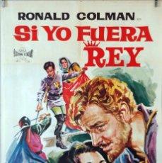 Cine: SI YO FUERA REY. RONALD COLMAN-FRANL LLOYD. CARTEL ORIGINAL 1965. 70X100. Lote 85205008