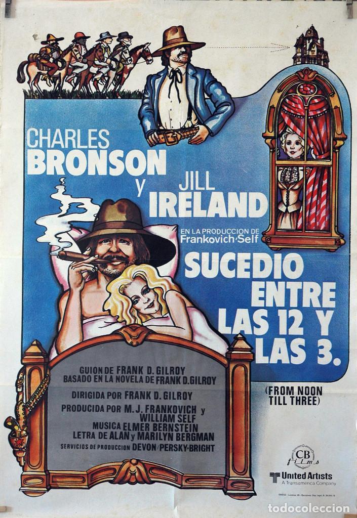 SUCEDIÓN ENTRE LAS 12 Y LAS 3. CHARLES BRONSON-JILL IRELAND. CARTEL ORIGINAL 1976. 70X100 (Cine - Posters y Carteles - Westerns)