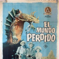Cine: EL MUNDO PERDIDO. IRWIN ALLEN. CARTEL ORIGINAL 1961. 70X100. Lote 85206164