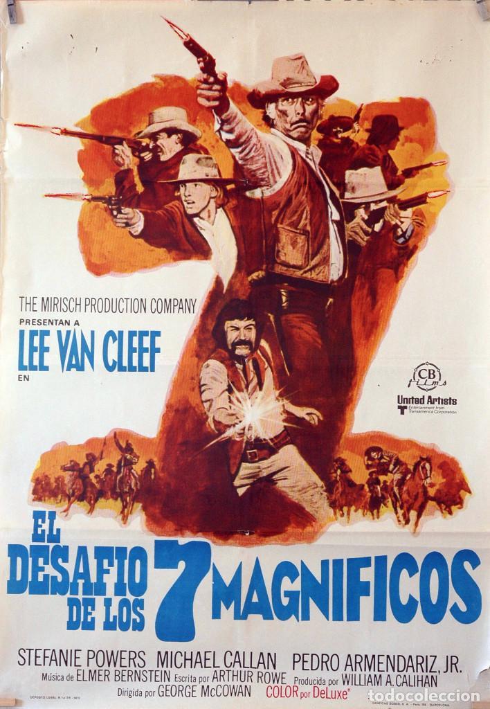 EL DESAFÍO DE LOS 7 MAGNÍFICOS. LEE VAN CLEEF. CARTEL ORIGINAL 1973. 70X100 (Cine - Posters y Carteles - Westerns)