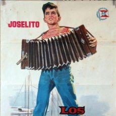 Cine: LOS DOS GOLFILLOS. JOSELITO-ANTONIO DEL AMO. CARTEL ORIGINAL 1963. 70X100. Lote 85208192