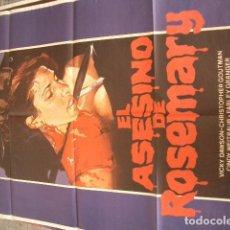 Cine: EL ASESINO DE ROSEMARY CON JOSEPH ZITO VICKY DAWSON POSTER ORIGINAL 70X100 ESTRENO. Lote 85282548