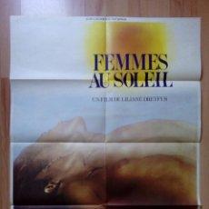 Cine: B-POSTER DE LA PELICULA--FEMMES AU SOLEIL. Lote 85343188