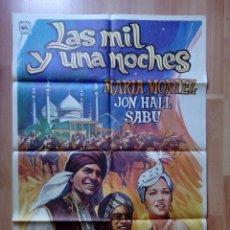 Cine: B-POSTER DE LA PELICULA--LAS MIL Y UNA NOCHE. Lote 85343816